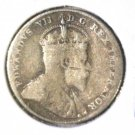 1908 Canada Silver 10 cent coin  Very Good Bent  KM#10  .0691  ASW