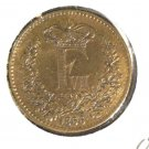1856 O Denmark Skilling Rigsmont Coin  KM#763 UNCIRCULATED