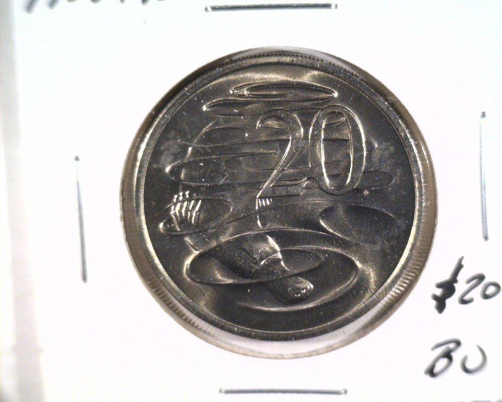 1983 Australia 20 cents coin KM#66 Brilliant Uncirculated Duckbill Platypus BU