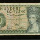 1969 Austria 100 Schilling Note Pick# 145 Hundert Schilling Angelika Kauffmann