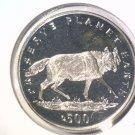 1994 Bosnia Herzegovina 500 Dinara Prooflike Coin KM#23   Wolf