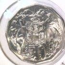 1983 Australia 50 cents BU coin KM#68  Coat of Arms
