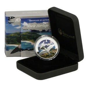 Seabirds Silver Proof $1 Coin 2013 Lord Howe Island Australia .999 Ltd Ed  2,500
