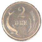 1874 (ND) Denmark  2 Ore Coin  XF  KM#793.1
