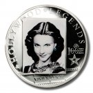 2013 Vivien Leigh Coin Cook Islands Sterling Silver Proof Swarovski Crystal