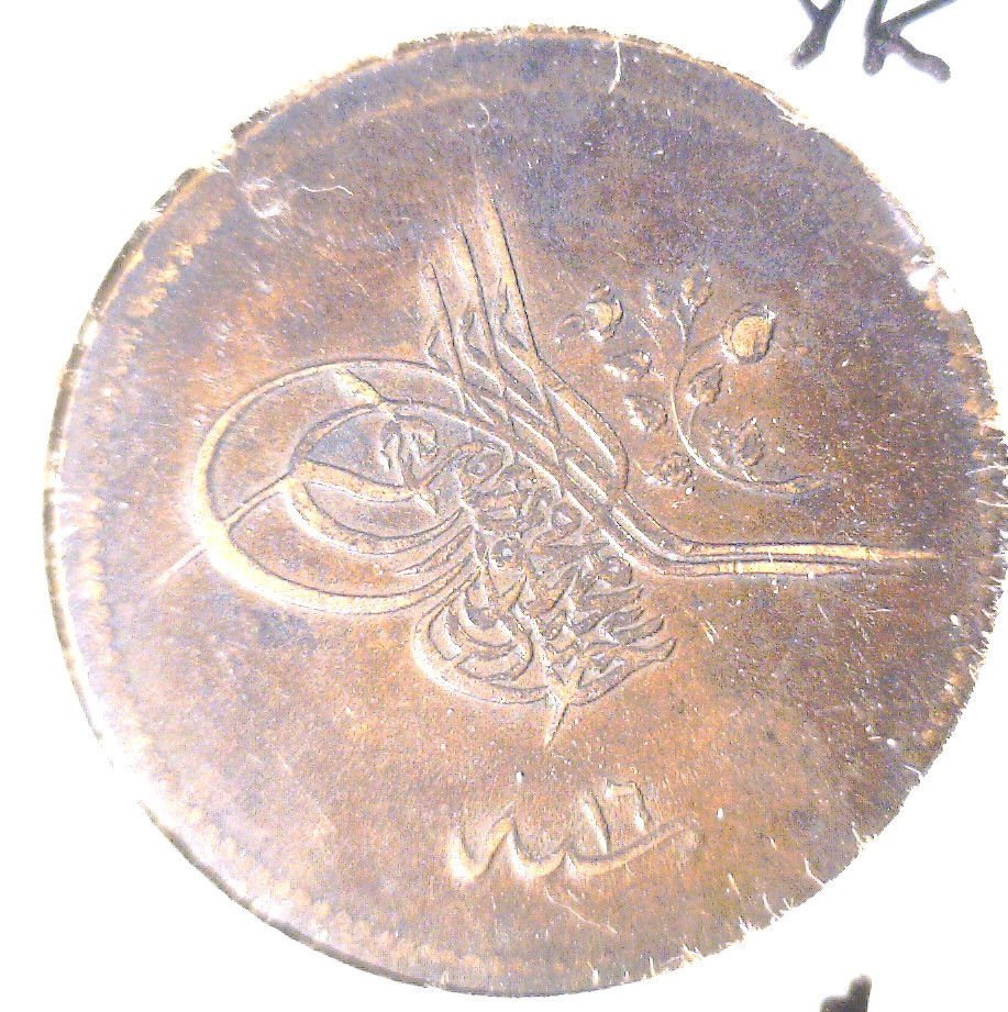 Turkey 20 Para Coin KM#668.1 Arab Year 1255