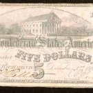 1862 Confederate States of America $5 Note   Type 53   Very Fine