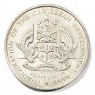 "1970 Saint Lucia FAO Four Dollar Coin BU KM#11 ""Grow More Food for Mankind"""