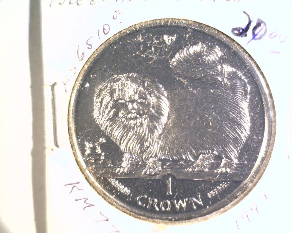 1997 Isle of Man BU Crown Coin Brilliant Uncirculated KM#774 Cat