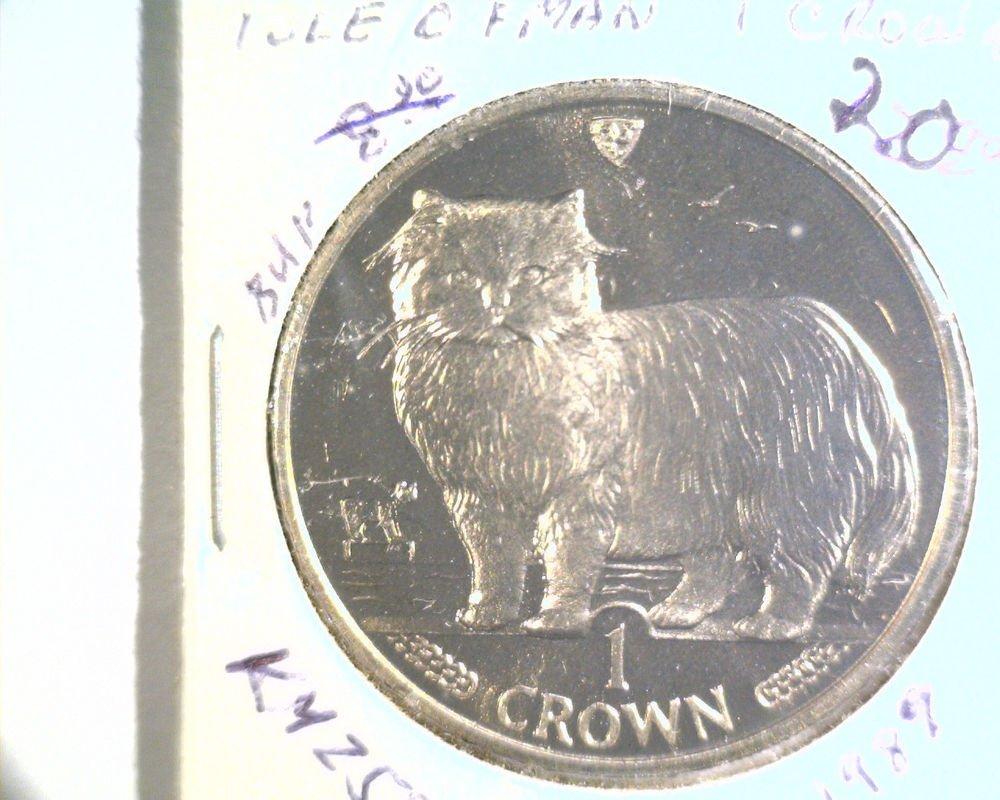 1989 Isle of Man BU Crown Coin Brilliant Uncirculated KM#250 Cat