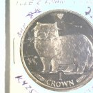 1989 Isle of Man BU Crown Coin Brilliant Uncirculated KM#250 Cat