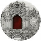 2014 Palau Tiffany Dresden Antique Finish Silver $10 Coin  2 oz of 999 silver #2