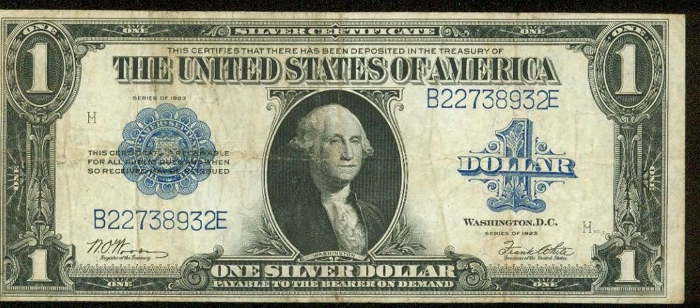1923 Silver Certificate Blue Seal Large Note FR-238