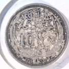 1916 Egypt Silver 10 piastres coin KM#319 .3749 ASW  CLEANED