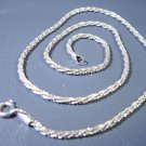 "Sterling Silver Necklace 5.3 grams 16"" long   Marked 925 Italy"