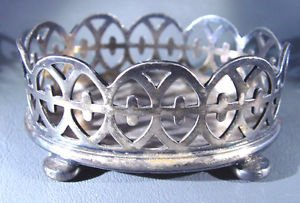 """Reed and Barton Silverplated Footed Basket  3-1/4"""" LX 1-1/4 H X 2-1/4"""" W  84.6 g"""