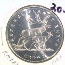 1994 Isle of Man BU Crown Coin Brilliant Uncirculated KM#387 Deer