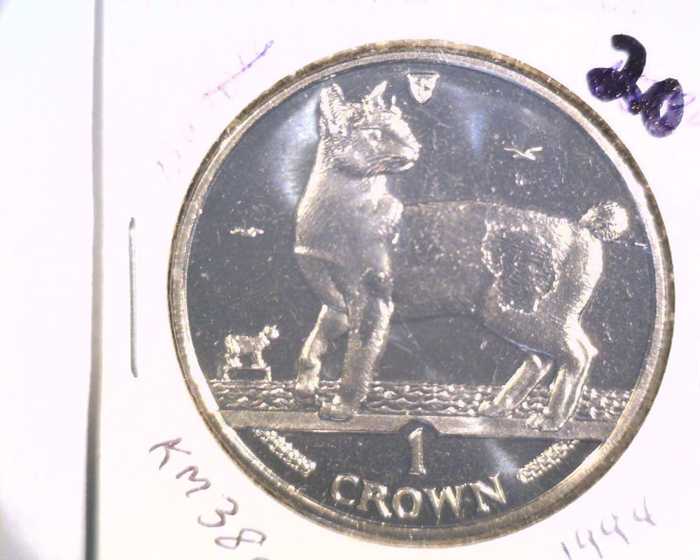 1994 Isle of Man BU Crown Coin Brilliant Uncirculated KM#380  Cat