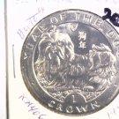 1994 Isle of Man BU Crown Coin Brilliant Uncirculated KM#406 Dog