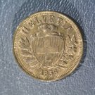 1936 (b) Switzerland 2 Rappen Coin KM#4.2a Dipped and Naturally Re-toned