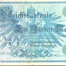 1908 Germany 100 Mark Note Pick #34  German Empire   X