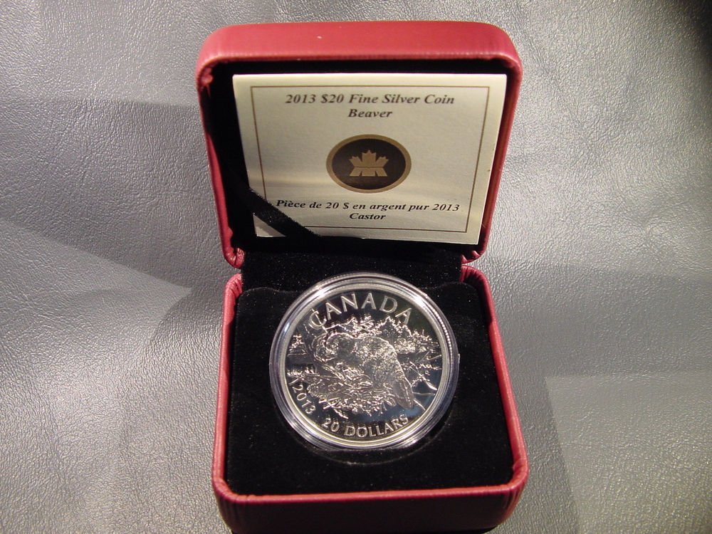 Canada Beaver Silver Proof $20 Coin 2013  * Super Low Mintage !!!  # 956 of 8500