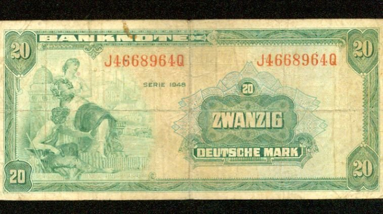 1948 Germany 20 deutsche mark note Pick#6 German Federal Republic