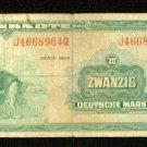 1948 Germany 20 deutsche mark note Pick#6 German Federal Republic