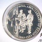 1992 Falkland Islands 50 pence coin  KM#34  BU  40th Anniversary Eliz. II Reign