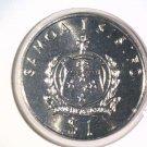 1992 Western Samoa One Dollar Coin KM#88  BU 40th Anniversary Reign of Elizabeth
