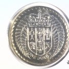 1979 New Zealand One Dollar BU Coin KM#48 Crowned Shield