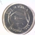 1986 Tonga One Pa'Anga Prooflike Coin KM#128 Humpback Whale and Calf