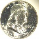 1955 Franklin Silver Half Dollar NGC MS64 Nice Mint Luster !