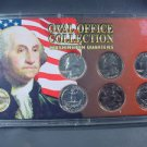 American Silver and Clad Coinage  * 6 Washington Quarters  1964 (2) 1976 (2) etc