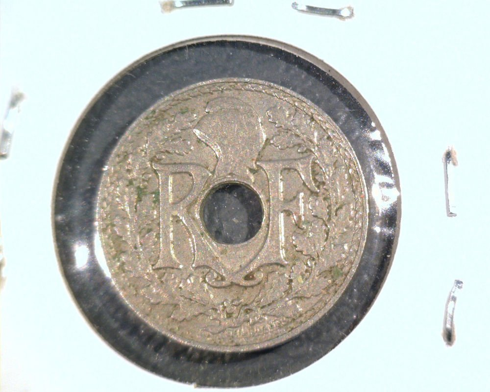 1938 France 5 Centimes coin   KM#875