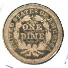 1853 US Seated Liberty Silver Dime 10 cents Good Details Scratched
