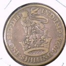 1928 Great Britain One Shilling Silver Coin KM#833  .0909 ASW