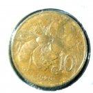 1920 Italy 10 Centesimi Coin KM#60 VERDI Vittorio Emanuele Rei d'Italia Honeybee