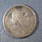 1887 Netherlands 10 cents Koningrijk der Nederlanden KM# 80 VF SILVER.0288 ASW
