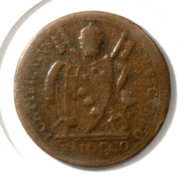 Papal States 1802 BAIOCCO COIN KM#1267 Pope Pius VII