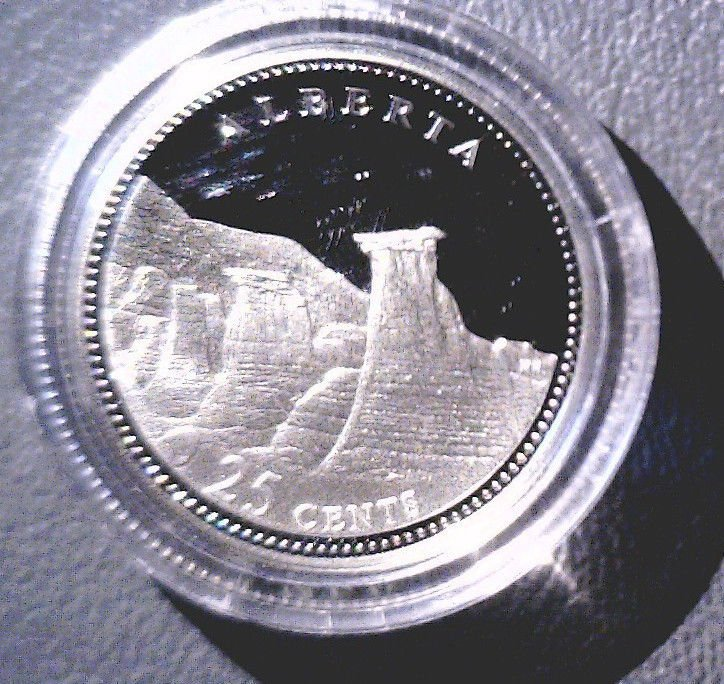 1992 Canada Commemorative Silver Proof 25 cent Coin .925   Alberta COA