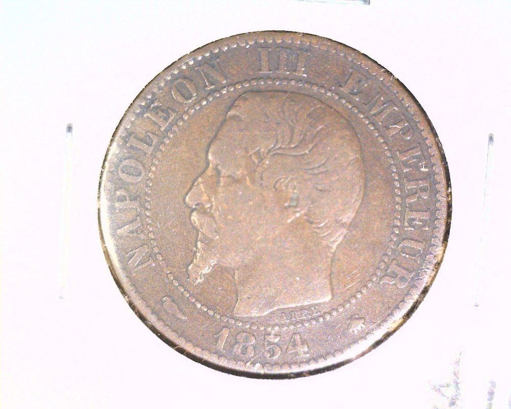 1854 BB France 5 centimes coin    KM#777.3