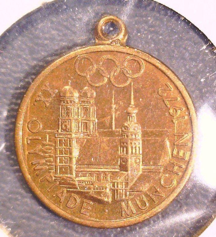 1972 Munich Olympics Souvenir Medal Munchen Freistaat Bayern