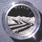 1992 Canada Commemorative Silver Proof 25 cent Coin .925 Silver  Yukon with COA