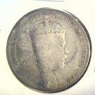 1909 Newfoundland Silver 50 cent coin VG KM#11  .3503 ASW