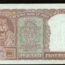 1962 India 2 rupees note Pick#30 Reserve Bank of India   Tiger