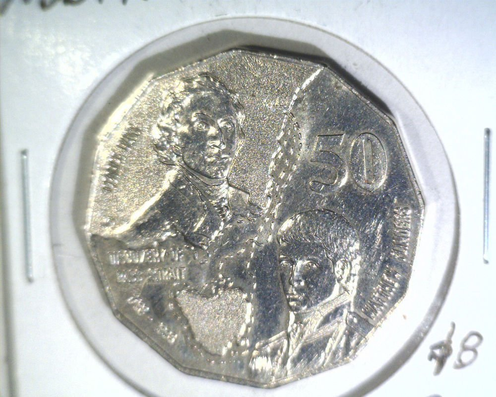 1998 Australia 50 cent coin KM#364  BU    Discovery of Bass Strait