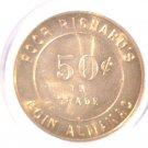 Ben Franklin Poor Richard's Coin Almanac Token Good for 50 cents in trade