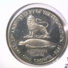1978 Ascension Island BU 25 pence / crown coin 25th Anniversary of Elizabeth II