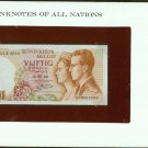 1966 Belgium 50 francs  Note Pick#139 CRISP UNCIRCULATED ! In Sealed envelope